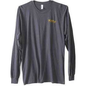 KAVU Etch Art LS T-Shirt Herre asphalt